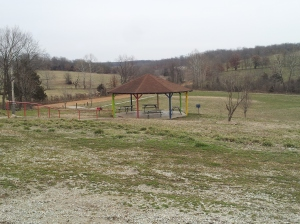 The Macks Creek Community Park is set on 9.6 acres of land designated as 'flood plain'.  While it may not be good for development, it is ideal for a community park.