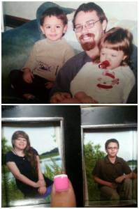 Dean, pictured above with Patrick and Abbigail.  Below, the last school pictures Dean and Tannia received.