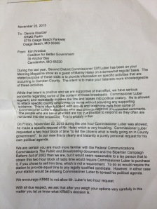 This letter, authored by Krostue, is full of 'baseless claims'.
